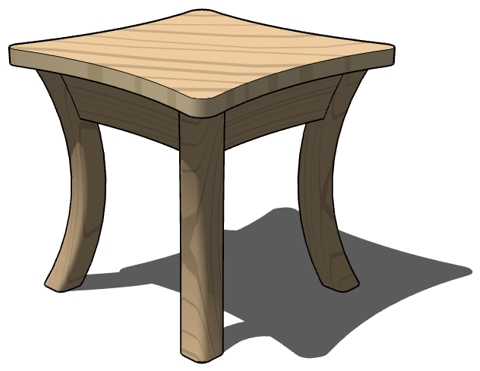 Coffee Table Living Room Cartoon