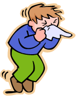 Image result for coughing into elbow cartoon